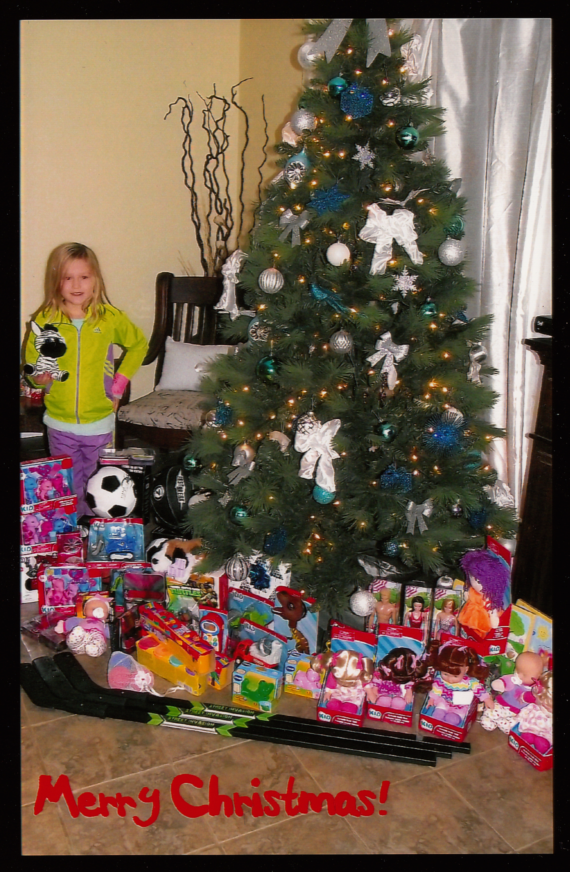 Toys For 7 : Year old girl donates in toys to goodfellows no